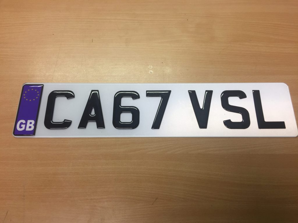 3D Number Plate Lettering from Dash Dynamics