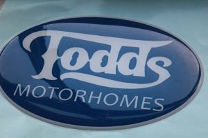 domed badge for Todds Motorhomes