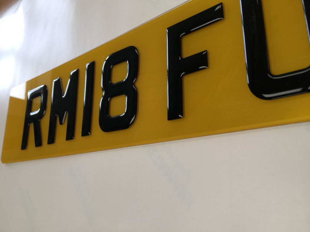 A 3D Number Plate from Dash Dynamics