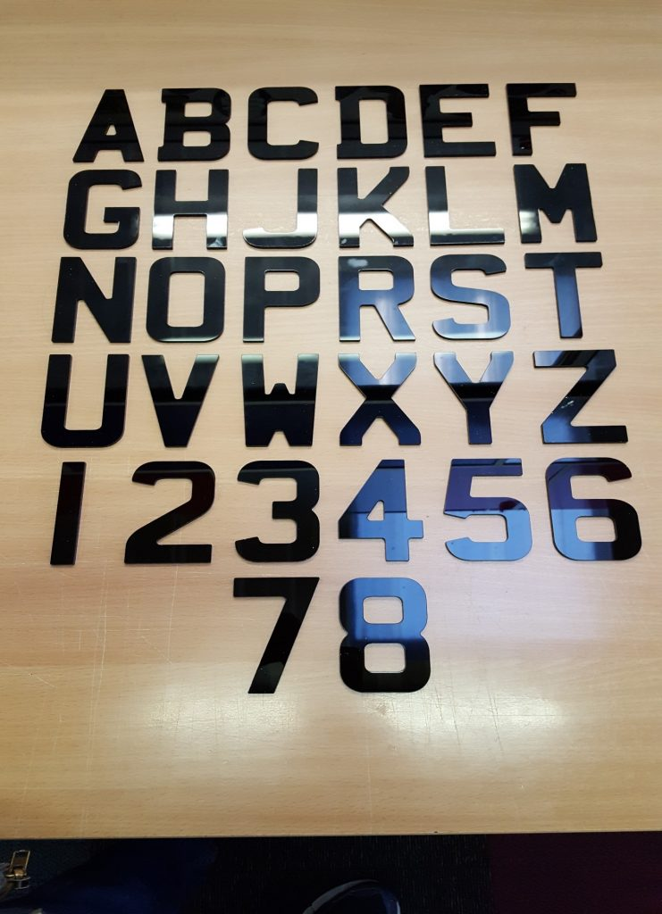 4D Letters and Numbers